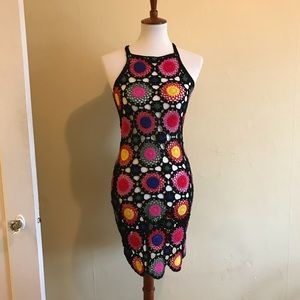 H&M Coachella crocheted dress sz 4